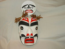 "REDUCED! New Native American Hand Carved 16"" Kwag-uilth Moon Mask-Jay Brabant"