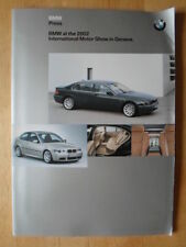 BMW Range complete Press Kit brochure Geneva Show 2002 - 7 Series LWB & M Sports