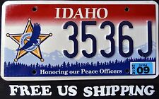"IDAHO "" PEACE OFFICER - EAGLE ""  ID Graphic License Plate FREE US SHIP"