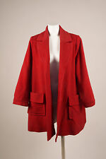 VINTAGE Yves Saint Laurent Red Wool Cashmere Oversized Long Sleeve Coat SZ 6
