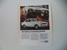 advertising Pubblicità 1971 FORD ESCORT 940/1100/1300 GT