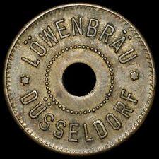 WERTMARKE: 50 Pfennig. LÖWENBRÄU DÜSSELDORF. IM MENZEL (2005) UNBEKANNT!