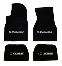 NEW! BLACK FLOOR MATS 1993-2002 Camaro Embroidered Z28 Logo Silver on all 4 Mats