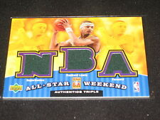 RASHARD LEWIS ALL-STAR CERTIFIED GENUINE AUTHENTIC BASKETBALL TRIPLE JERSEY CARD