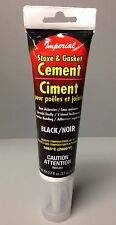 Imperial Stove & Gasket Cement, High Temperature 2,000F Black 2.7 Oz