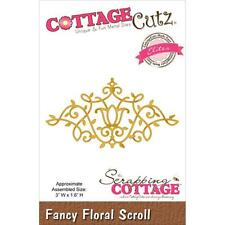"CottageCutz Elites Die ~ Fancy Floral Scroll, 3""X1.6"" CCE023 ~ NIP"