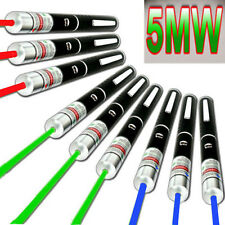 9PC Military Powerful 5mw Green + Blue violet +Red Laser Pointer Pen Beam Lazer