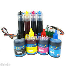 Continuous Ink with Ink Set for Epson Workforce  wf7610 wf7620 wf3620 wf3640 Cis