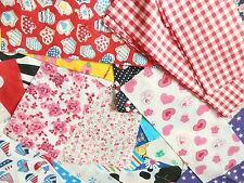 Bundle patchwork tessuto materiale scarti Lotto Misto Craft Ritagli 30 PEZZI