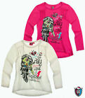 NEU* MONSTER HIGH T-Shirt LANGARM 128*140*152*164 weiß rosa