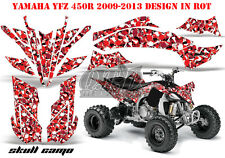 Amr racing decoración Graphic kit ATV yamaha yfz 450 04-14,yfz450r 09-16 Skull camo B