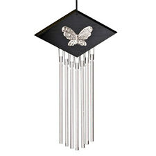 Woodstock Percussion Silver Harp Butterfly Wind Chime Feng Shui 16 inch HARB