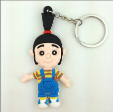 Despicable Me Agnes Orphan Girl Rubber Key Chain Ring Keychain Keyring Holder