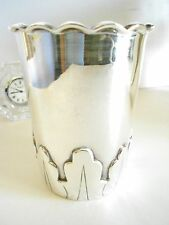 GORGEOUS SMALL VASE MODERN TAXCO LOOK SILVERPLATE EMILIA CASTILLO BLEND GORGEOUS