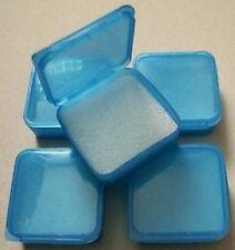 5 Stück Pillendosen Plastikbehälter Döschen mit Deckel Behälter Dose Klappdeckel