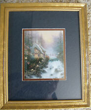 "Thomas Kinkade Accent Print Sweetheart Cottage 9""X11"" Framed Matted  COA"
