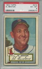 1952 Topps #374 Al Benton Boston Red Sox PSA 6  Pitched to both Ruth and Mantle