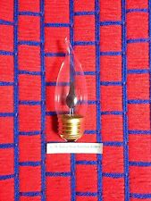 Box of 18 FLICKER FLAME LIGHT BULB 3 watt bent tip 3w REGULAR medium base ~ NEW