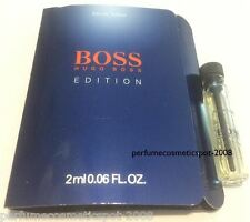 HUGO BOSS EDITION COLOGNE SAMPLE VIAL FOR MEN .06 OZ / 2 ML EAU DE TOILETTE