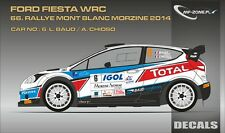 DECALS 1/43 FORD FIESTA WRC #6 - BAUD - RALLYE MONT-BLANC 2014 - MF-ZONE D43351
