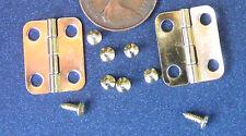 2 Cerniere in Ottone & Viti Casa delle Bambole Miniatura 1:12 accessori 1.8cm x 1.5c L