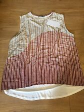 zara foil pleat tshirt Top Size XL brand new with tags