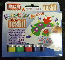 Brian Clegg Playcolor 6 X palos de Pintura de Tela Textil sólido, artesanías de los niños
