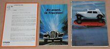 (39A) DOSSIER PRESSE 50 ANS CITROEN TRACTION AVANT 1934-1984 (CABRIOLET etc)
