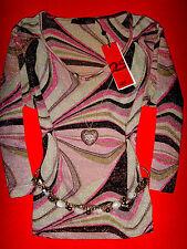 QS by S.OLIVER SHIRT PASTELL-SILBER ROMANTIK BOHO M 36 38 NEU !! TOP !!