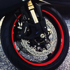 ANY COLOR CUSTOM MOTORCYCLE RIM WRAP WHEEL DECALS STRIPES STICKERS TAPE RED TRIM