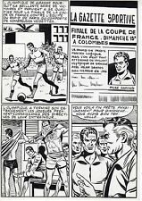 FINALE DE COUPE FOOTBALL (ROBERT HUGUES) PLANCHE ORIGINALE PILAR SANTOS PAGE 2