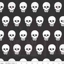 Fat Quarter Geekly Chic Black and White Skulls Cotton Quilting Fabric
