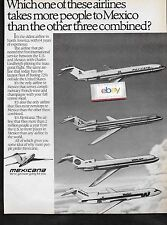 MEXICANA AIRLINES 727-200 1984 WHICH AIRLINE TAKE MORE PEOPLE TO MEXICO ? AD