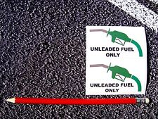 UNLEADED FUEL X2 WARNING STICKERS DECALS CARS TAXI CITROEN FIAT VAUXHALL