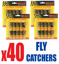 40 x Sticky Fly Bug WASP Insetto-Poison FREE PAPER TRAP Catchers Traps