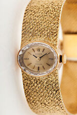 Vintage 1960s $10,000 ROLEX Ladies 18k Yellow Gold Dress Watch & BOX & WRNTY 55g