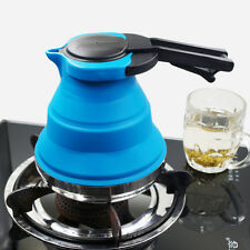 Collapsible Kettle Camping Fishing Folding Pop-Up Gas Stove Hob Water Pot Blue