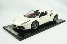 1/12 BBR FERRARI 488 SPIDER IN COLOR FUJI WHITE LIMITED 10 PIECES N MR