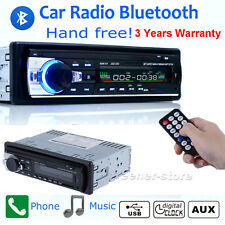 Car Radio Audio Bluetooth 1 DIN In Dash SD/USB IPOD Aux Input FM Stereo HeadUnit