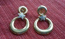 Pretty Women Silver Star In Gold Plated Clip On Hoop Earrings