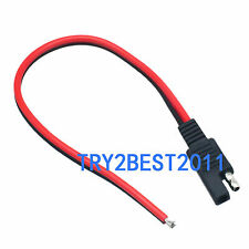 1pce SAE 2 POLE FLAT PLUG LOAD SIDE 12 V 12V POWER CONNECTOR 14AWG 300mm