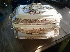Antique Grindley English Ironstone  DAFFODIL  Lidded Tureen and Platter 1882