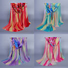 Fashion New Lady Women's Long Soft Wrap Lady Shawl Silk Chiffon Scarf Scarves