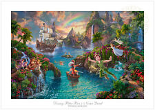 Thomas Kinkade Disney Peter Pan's Never Land – 12x18 S/N Limited Edition Paper