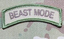 BEAST MODE US ARMY ROCKER TAB USA MILITARY TACTICAL MORALE MULTICAM VELCRO PATCH