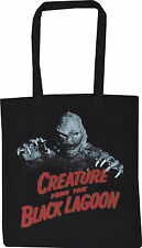 CREATURE FROM THE BLACK LAGOON BLACK COTTON TOTE SHOPPER BAG MONSTER HORROR RED