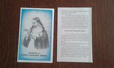 estampa religiosa, novena a Santa Catalina Tomàs