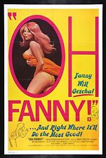 OH FANNY ! * CineMasterpieces MOVIE POSTER 1975 ADULT X RATED PORN