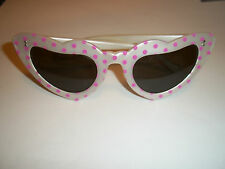 Vintage Original 1980s ''ROCKABILLY ''  Polka Dot Cat Eye Sunglasses By Sintony