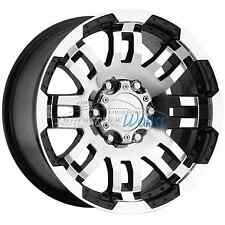 15x7.5 Vision Warrior 5x120.65 5x4.75 -12mm Black Machined Wheels Rims Inch 15""